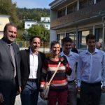 Unterdessen vor der Tür, Präsident Trey und Coortus Charly Holzmann mit seinem Team - Danke für alles!